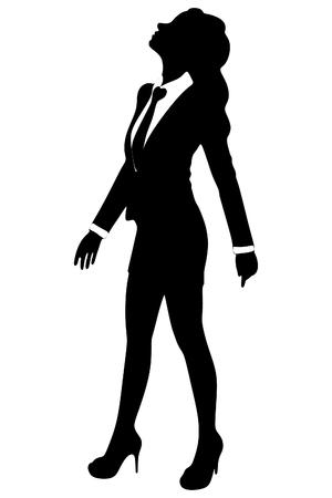 Business Woman looking up  Vektorgrafik