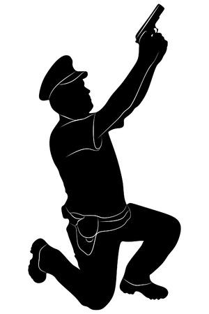 folded arms: Security man, vector