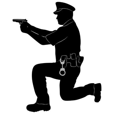 security man: Security man, vector