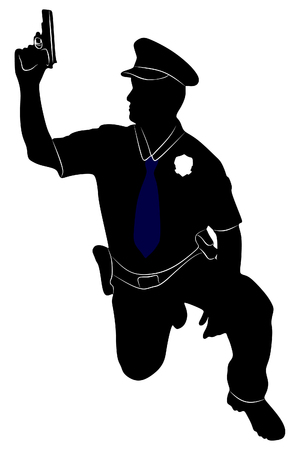body guard: An illustration of a policeman or police officer
