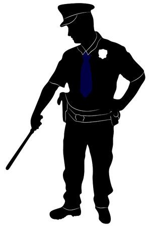 speciality: Policeman, vector