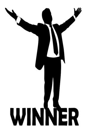victor: Winner concept, business man standing