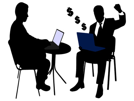 yuppie: two business men working