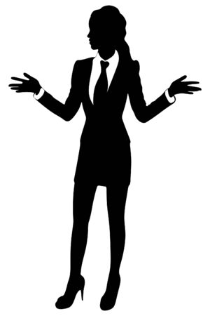 expressing positivity: Attractive young businesswoman talking