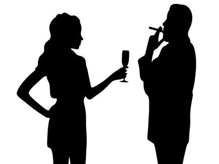 seducer: young couple celebrating Illustration