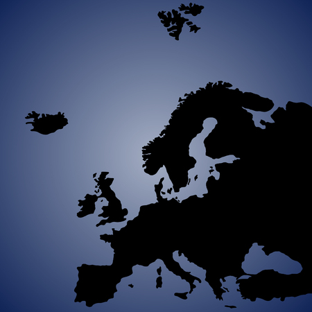 kingdom of spain: Map of Europe, vector