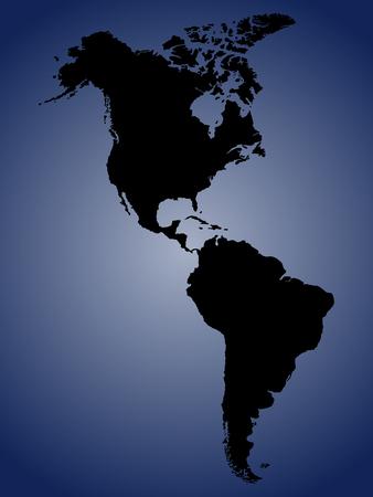 Amérique du Nord et du Sud carte Banque d'images - 61453991