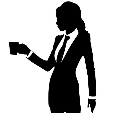 cofee: Business woman drinking cofee or tea