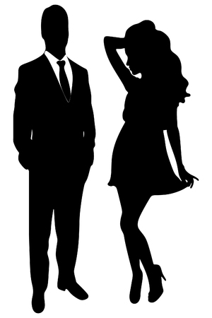 lady silhouette: silhouette of the lady and gentleman