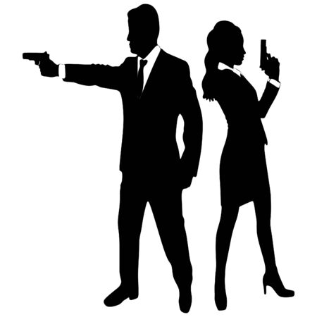 dangerous woman: business people with guns