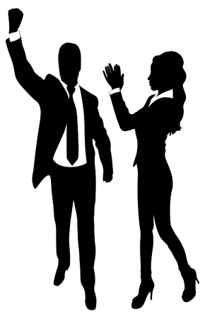 clapping: Business woman clapping