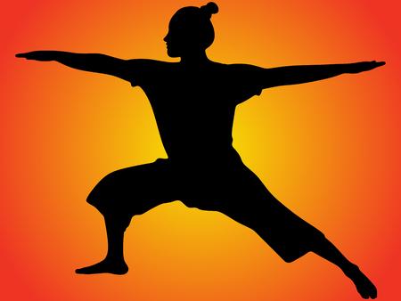 zenlike: Yoga position, Virabhadrasana