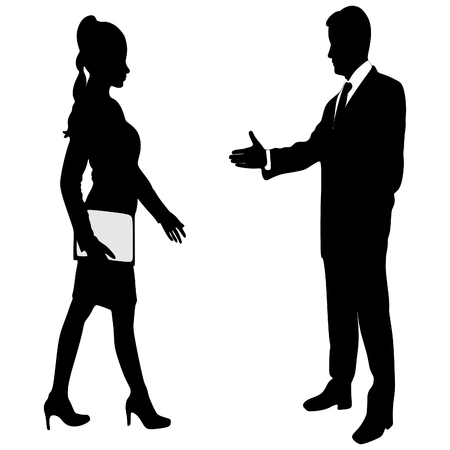 Business man extending hand to shake