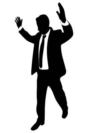 dismissal: angry businessman Illustration