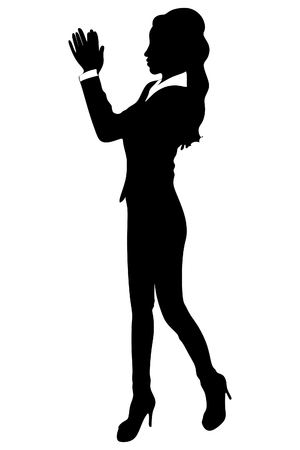 acclaim: Business woman clapping