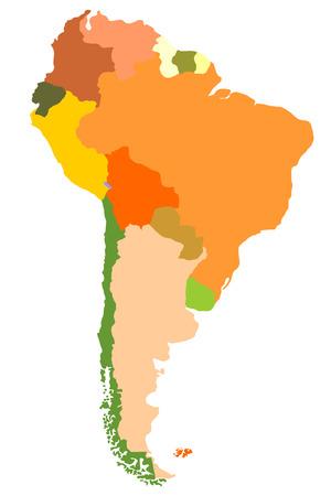 map bolivia: Sudamérica- mapa detallado Vectores