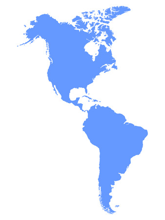 North and South America map 向量圖像