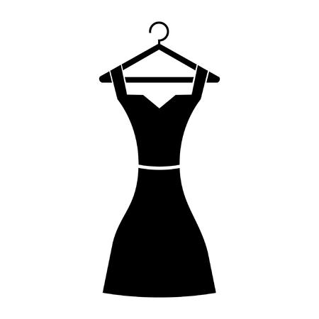 black dress: dress icon, black dress Illustration