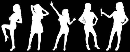 dancefloor: girls dancing in silhouettes