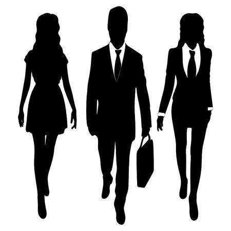 business people walking: successful business people walking