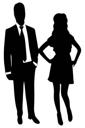 business people standing: business people standing