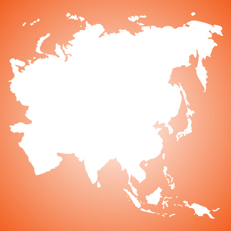 ASIA MAP VECTOR Illustration
