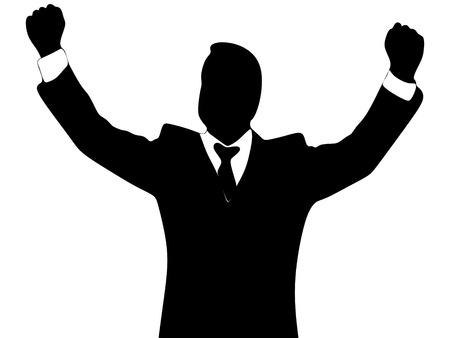 hombre de negocios, ganador Ilustración de vector