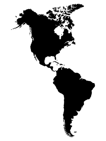 North and South America map Stock Illustratie