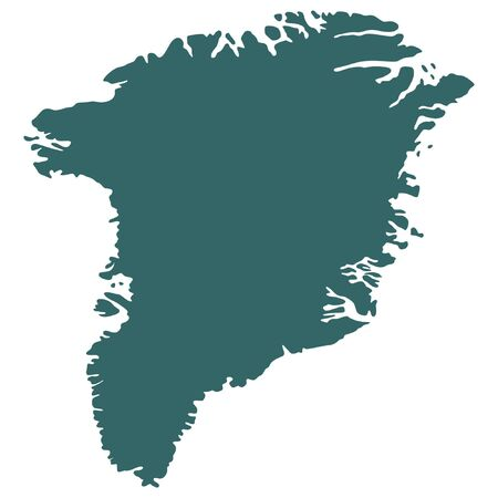 greenland: vector map of greenland