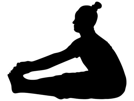 yogi: yogi man practising Illustration