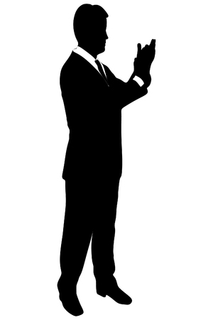 jubilation: businessman clapping his hands Illustration