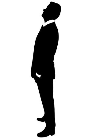 mature men: successful businessman looking up Illustration