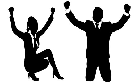 acclaim: happy business people