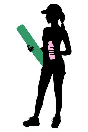 ropa deportiva: adaptarse a joven en ropa deportiva Vectores