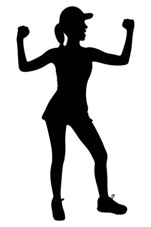 fitness woman: happy fitness woman Illustration