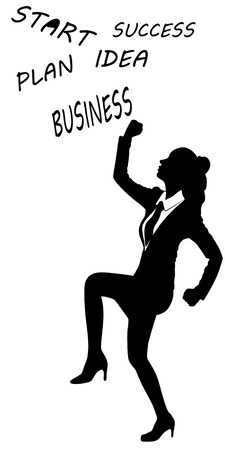 alluring: Young business woman smiling