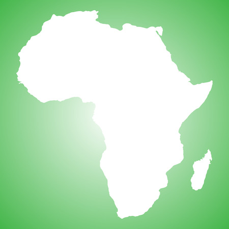 country nigeria: map of Africa Illustration