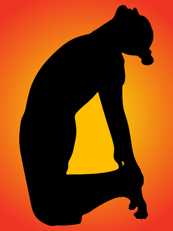 ushtrasana: Man doing yoga, camel pose - ushtrasana