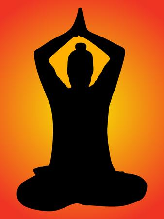 yogi: young man doing yoga