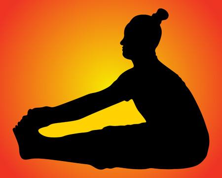 siddhasana: yogi man practising Illustration