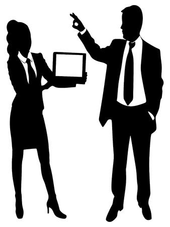 business sign: business man Gesturing OK sign