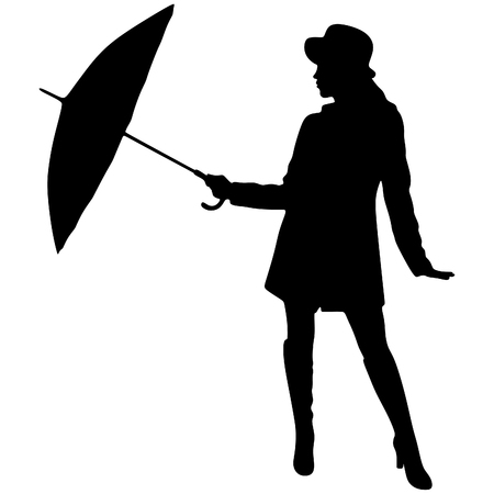 young girl: young beautiful girl with umbrella