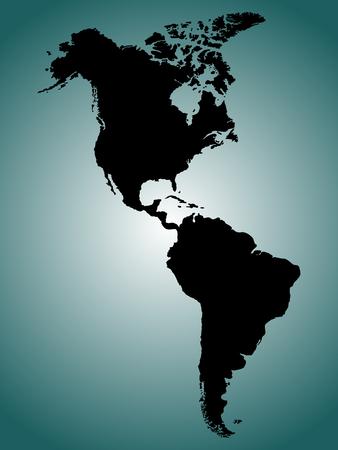 Norte y Sur América mapa