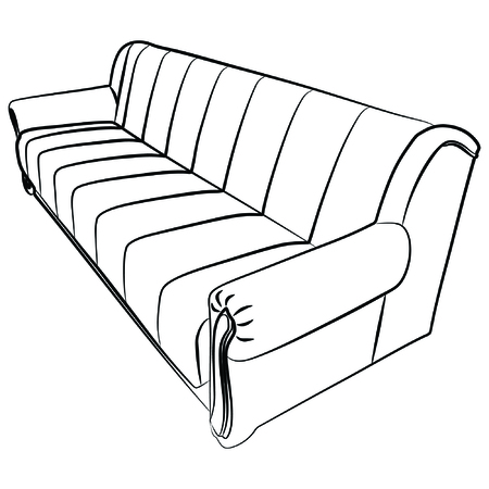 white sofa: a comfy couch sofa isolated on white