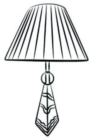Vintage table lamp isolated on white Illustration