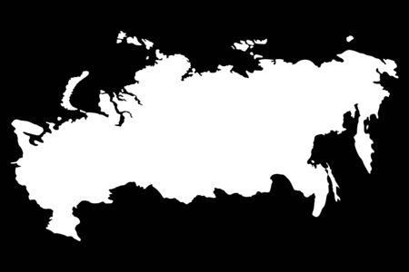cray: russia map, vector illustration Illustration