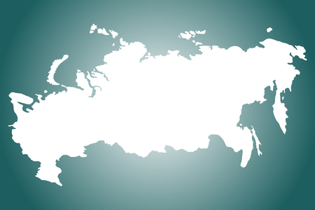 cray: Russia map, vector illustration