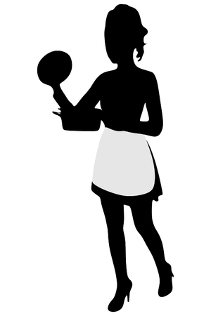 Woman dressed as a cook Illustration