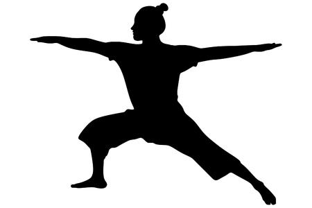 yogi: Yoga position, vector sillhouette