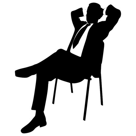 sit down: Young businessman relaxing